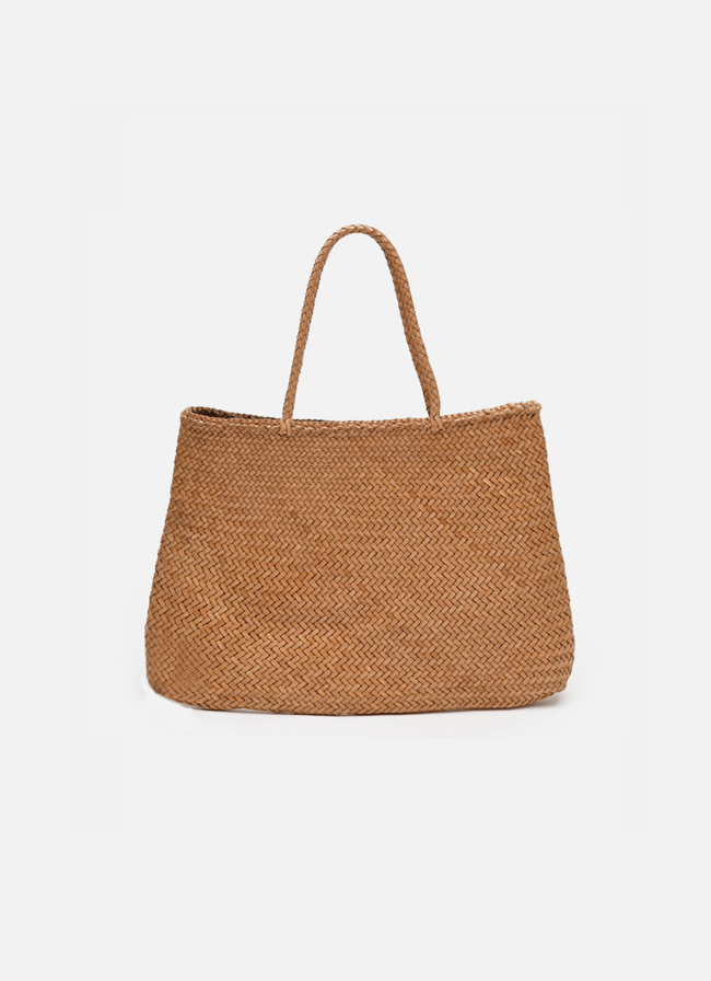 Leather Wicker Bag Sophie Large