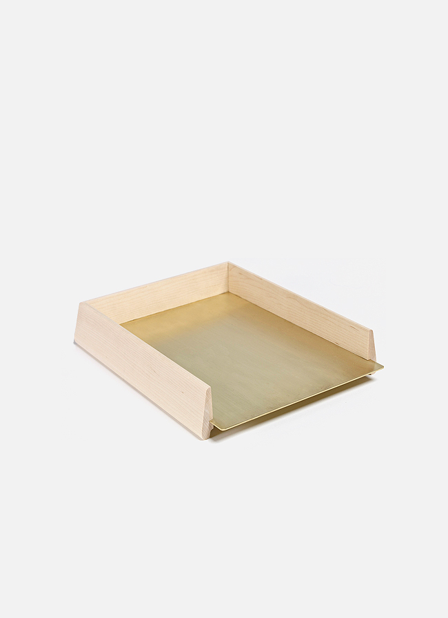 Another Country - Wood and Brass Paper Tray