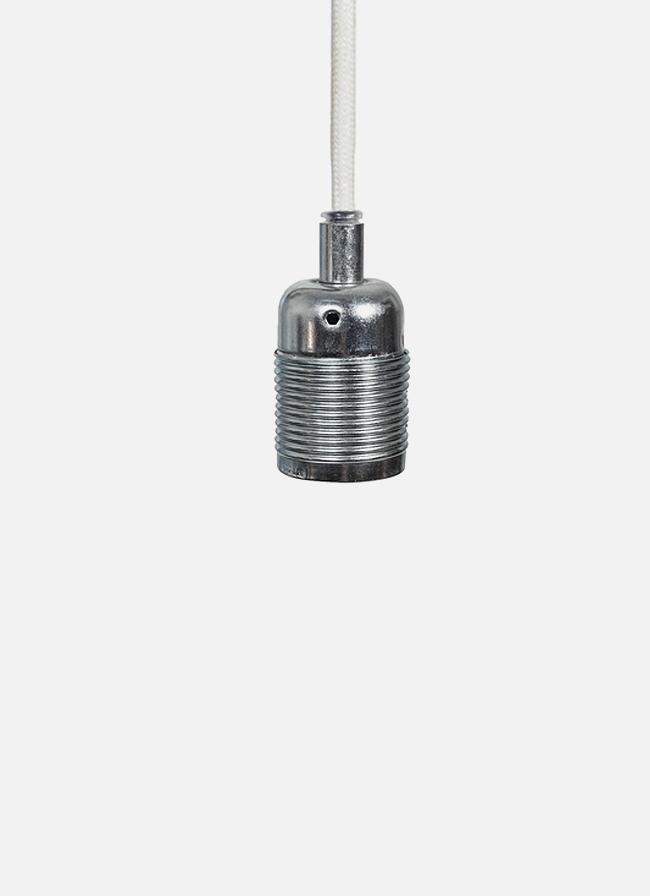 Frama – E27 Pendant – white cord/steel