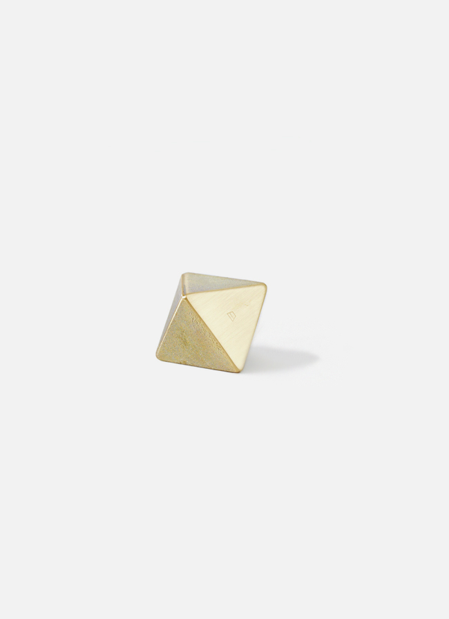 Futagami - Handmade Solid Brass Paper Weight - Ihada - Triangle