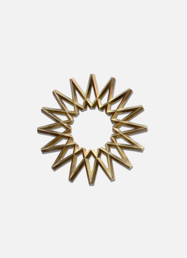 Futagami - Handmade Solid Brass Trivet - Galaxy