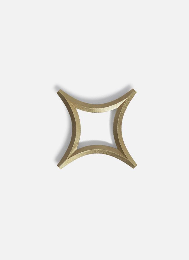 Futagami – Handmade Solid Brass Trivet – Star