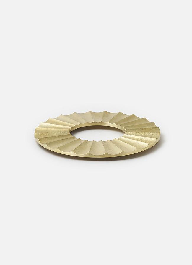 Futagami - Handmade Solid Brass Trivet - Sun