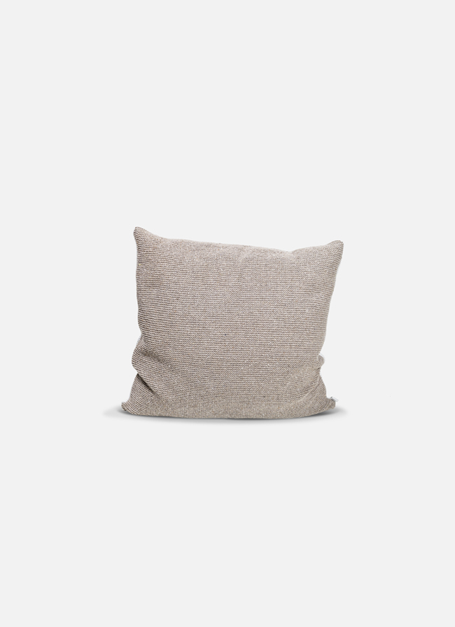 By Mölle – Denim cushion – sand/offwhite – 50x50cm