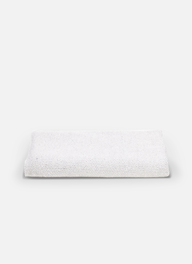 By Mölle - Denim throw – Off White - 120x180cm