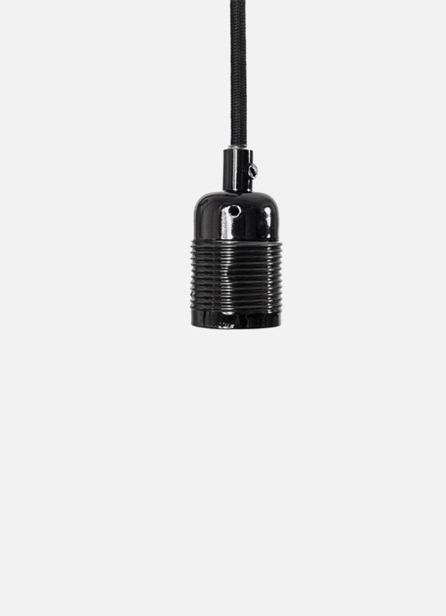 Frama – E27 Pendant – black cord/black chrome