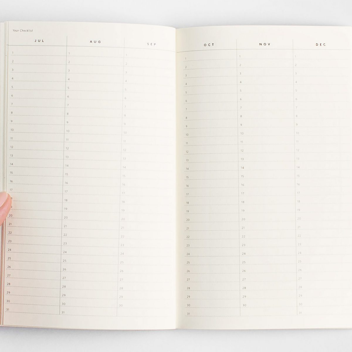 julia kostreva notebook any year monthly weekly daily planner