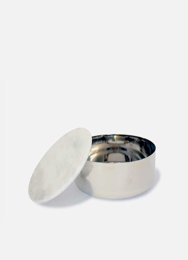 Steel Container with Marble Lid