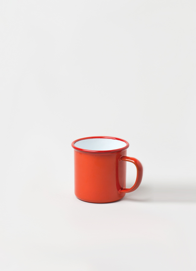 Falcon Enamelware Mug Pillarbox Red