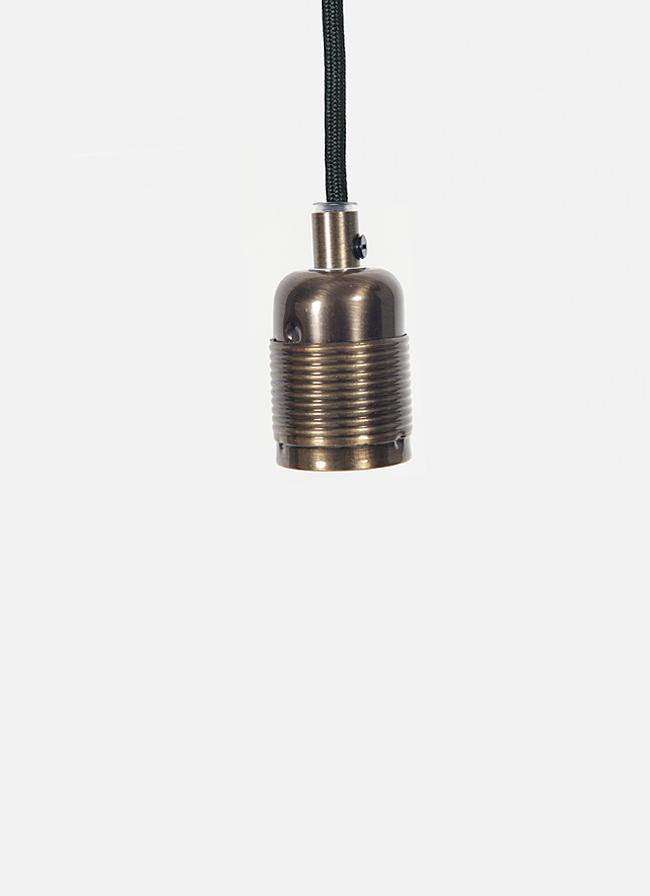 Frama – E27 Pendant – black cord/bronze