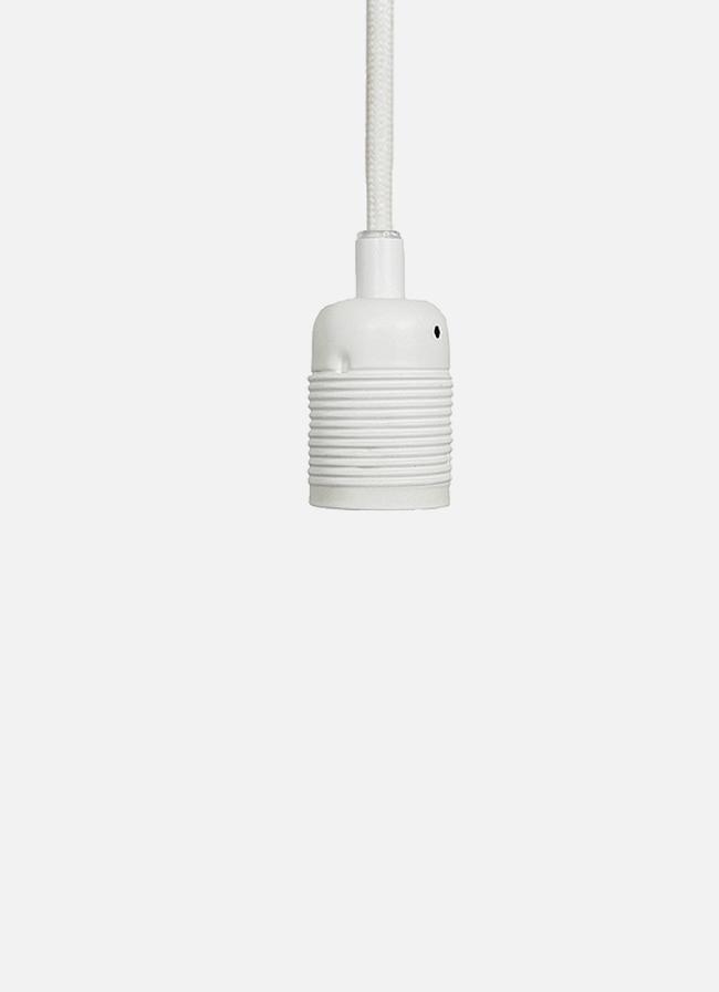 Frama – E27 Pendant – white cord/mat white