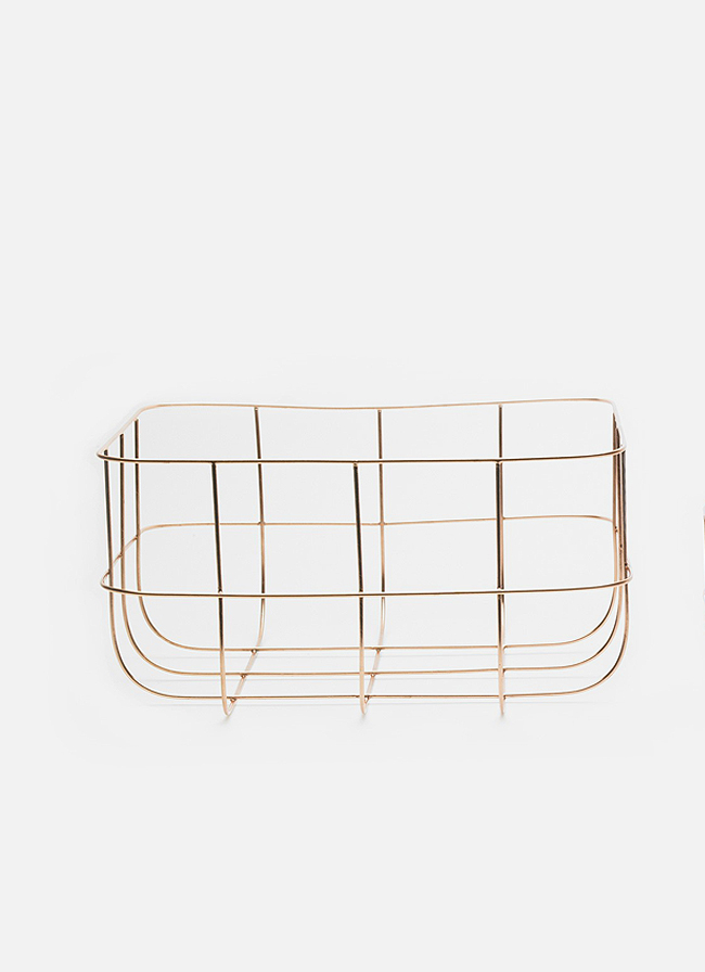 Wire Basket Copper
