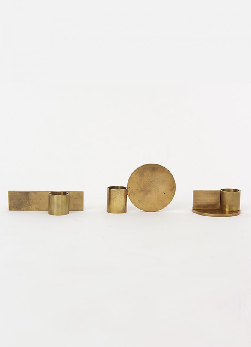 Frama – Fundament Candle Holders – brass