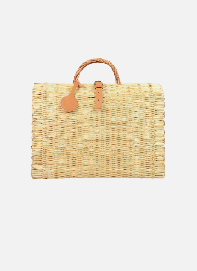 Toino Abel – Hand-woven Reed Bag – M