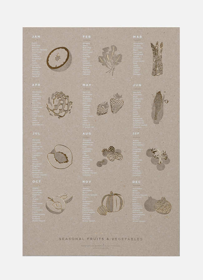 Seasonal Fruit and Vegetable Poster