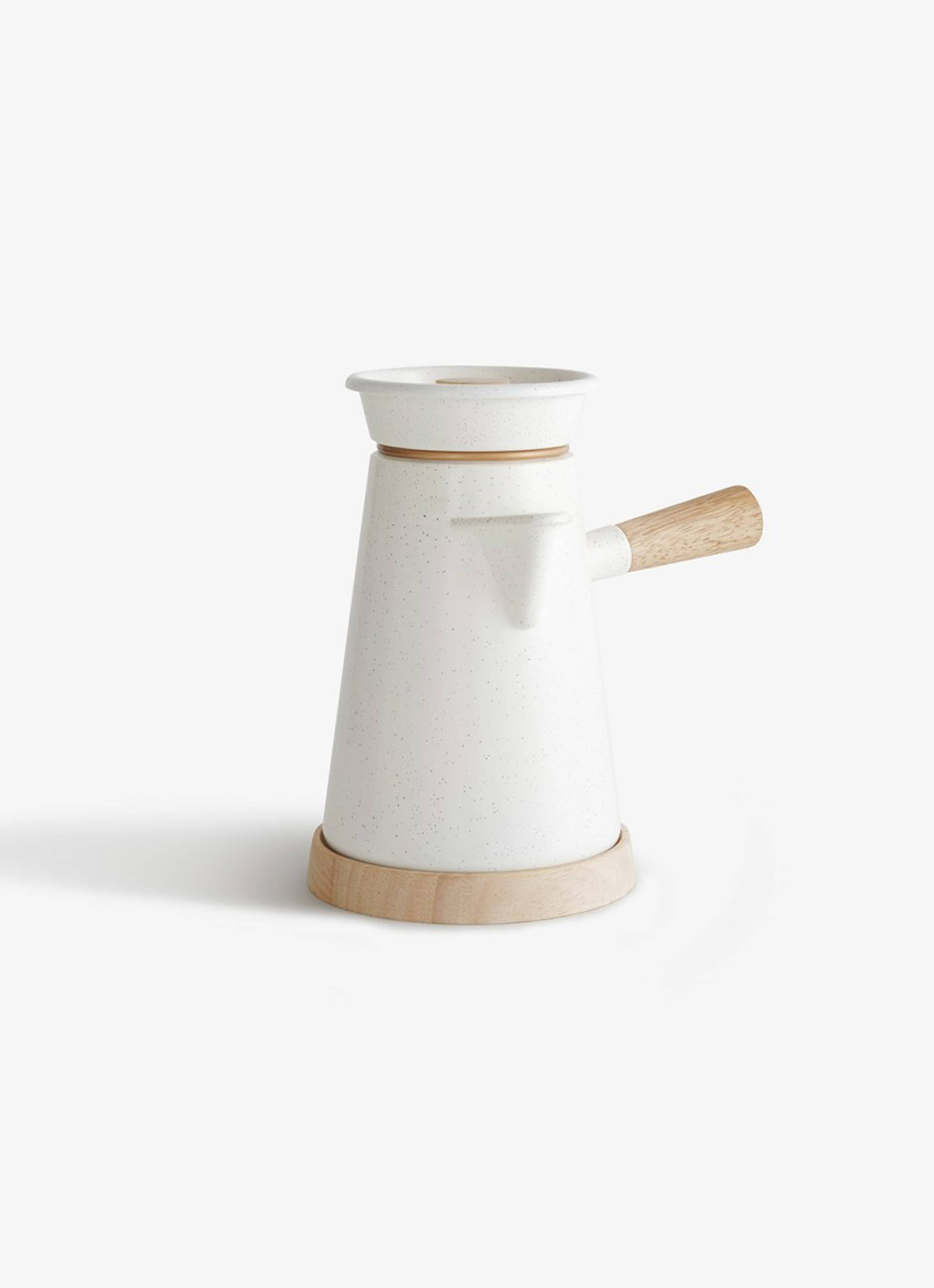 Castor - Cowboy Coffee Kettle - white speckle