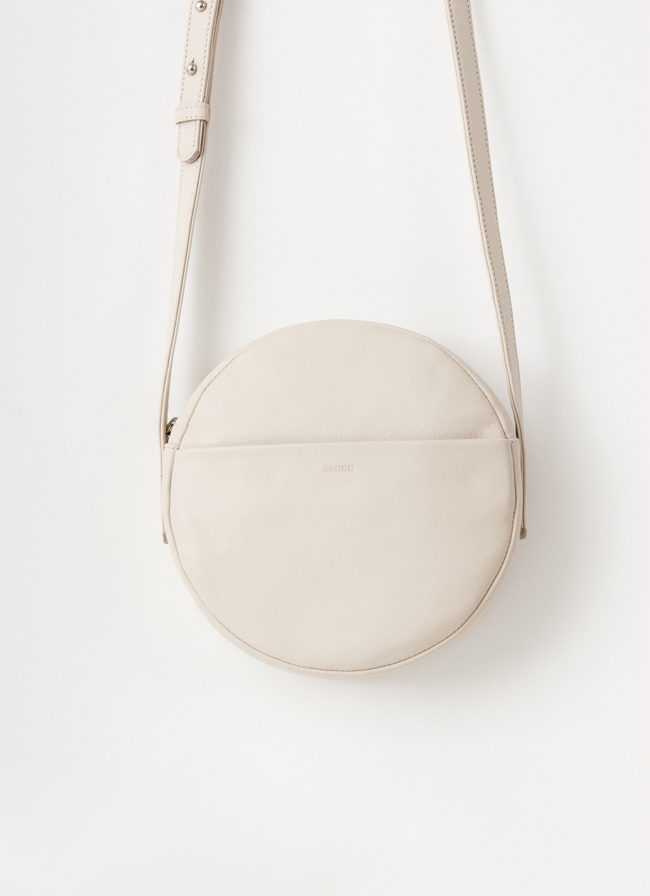 Baggu Leather Circle Purse - Stone
