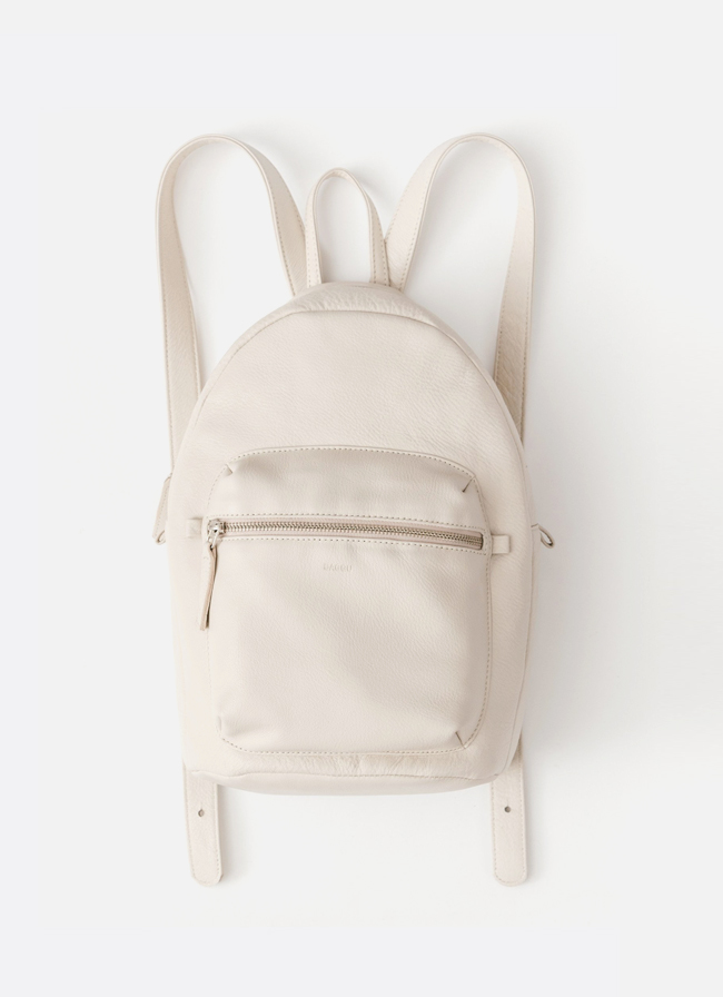 Baggu Leather Backpack - Stone