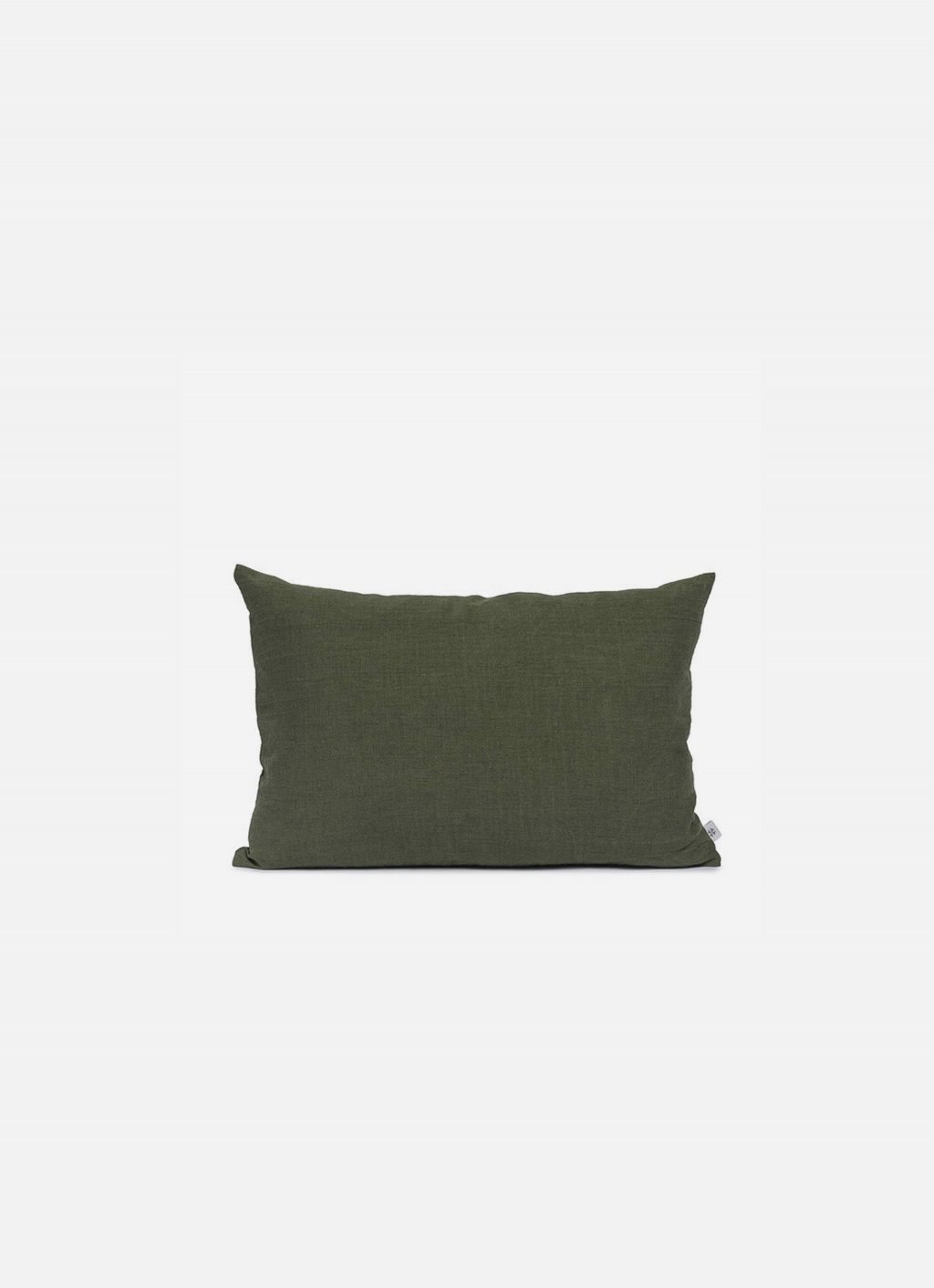 By Mölle - Linen cushion - moss green - 40x60cm