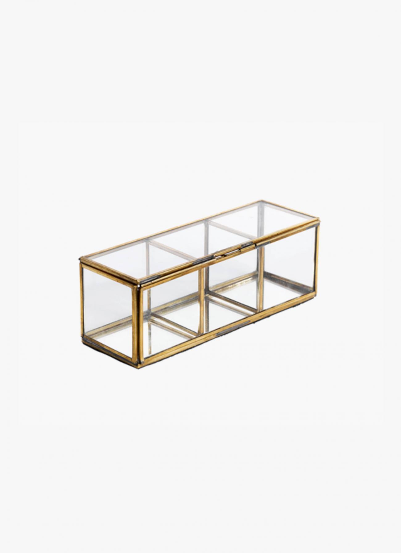 Nkuku - Antique Brass and Glass - Divider Box