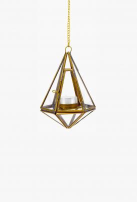 Nkuku - Hanging Lantern - Brass