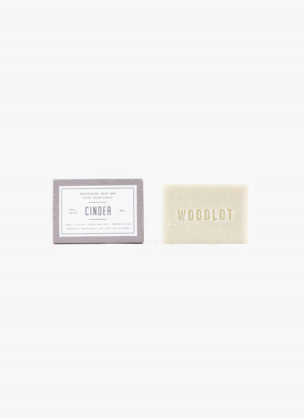 Woodlot - 4OZ- Soap Bar - Cinder