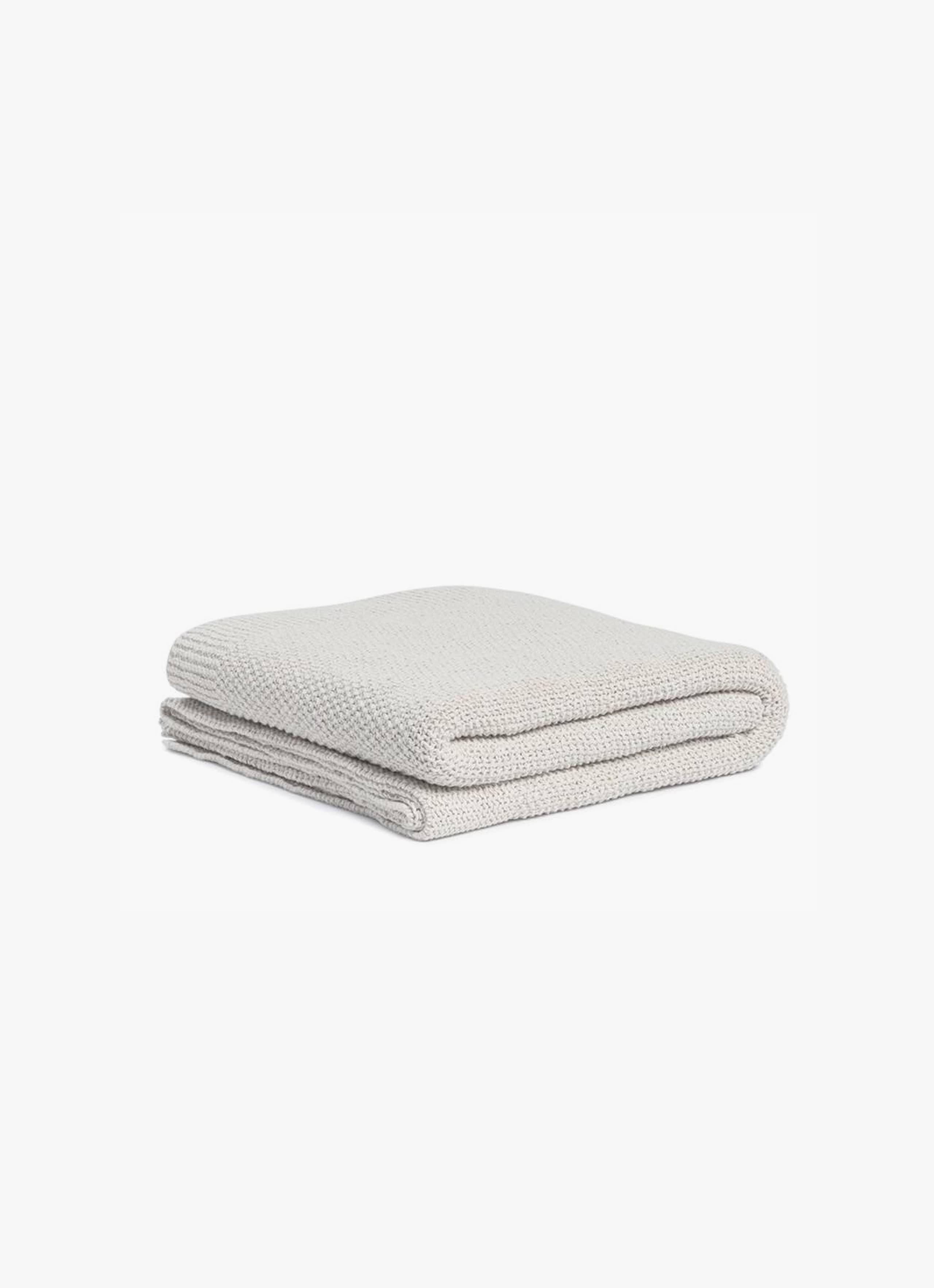 By Mölle - Denim throw – Off White - XL - 140 x 250cm