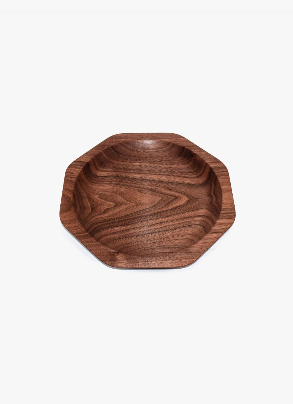 Asahikawa Woodworking - Oji Masanori - Kakudo Dish - Walnut - L