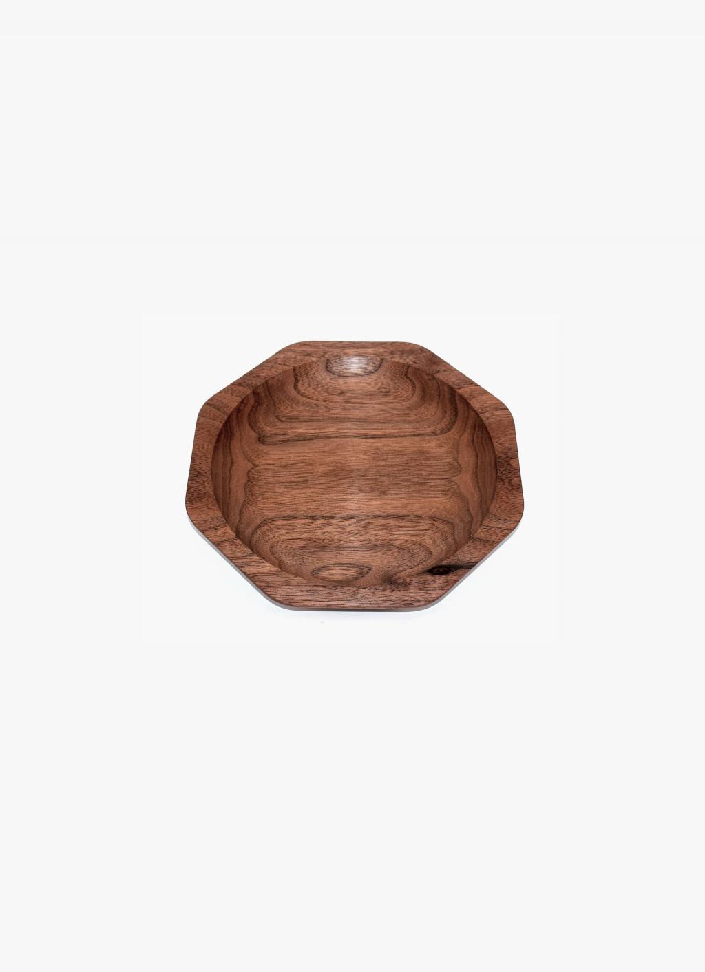 Asahikawa Woodworking - Oji Masanori - Kakudo Dish - Walnut - S
