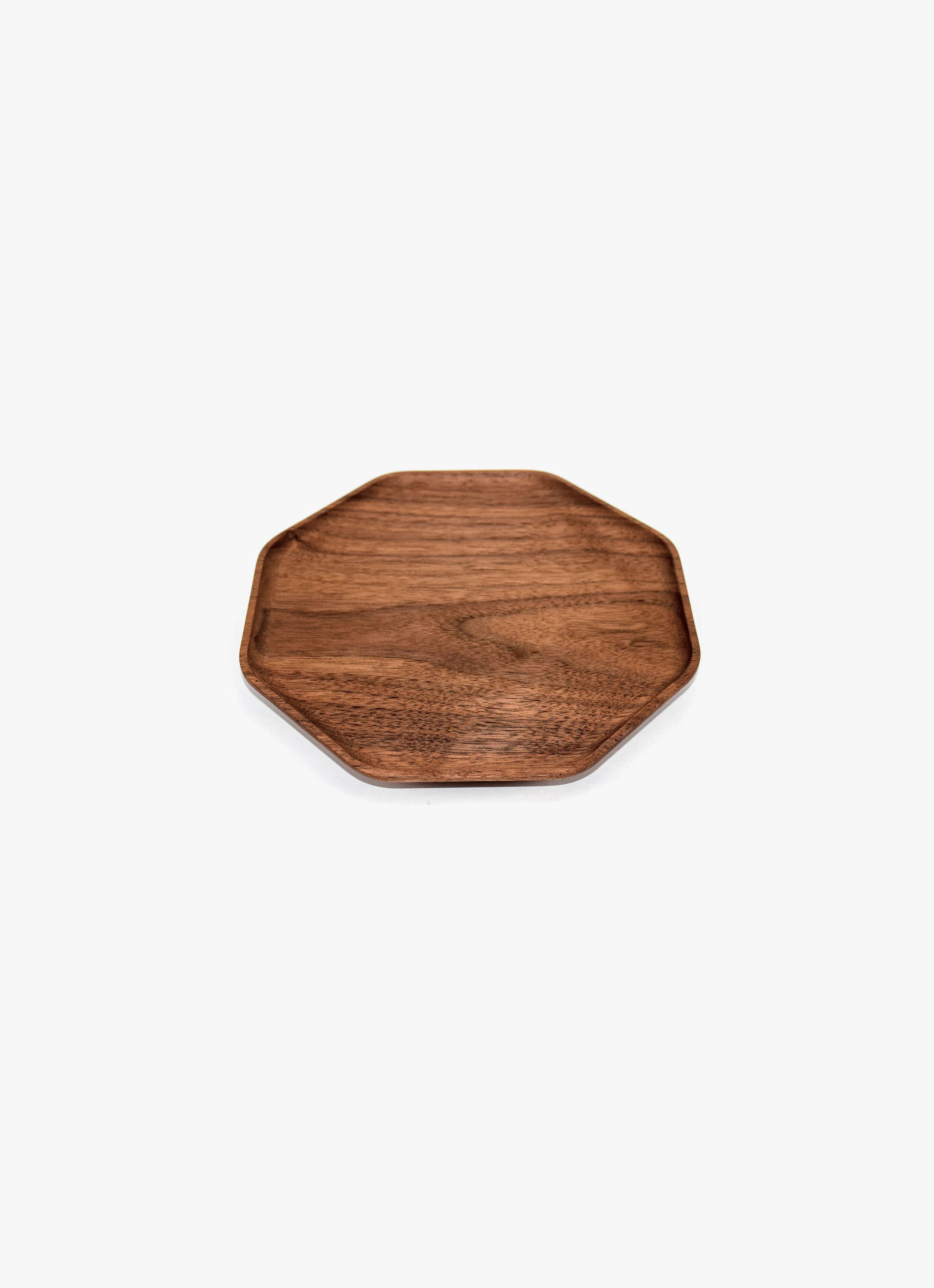 Asahikawa Woodworking - Oji Masanori - Kakudo Plate - Walnut - S