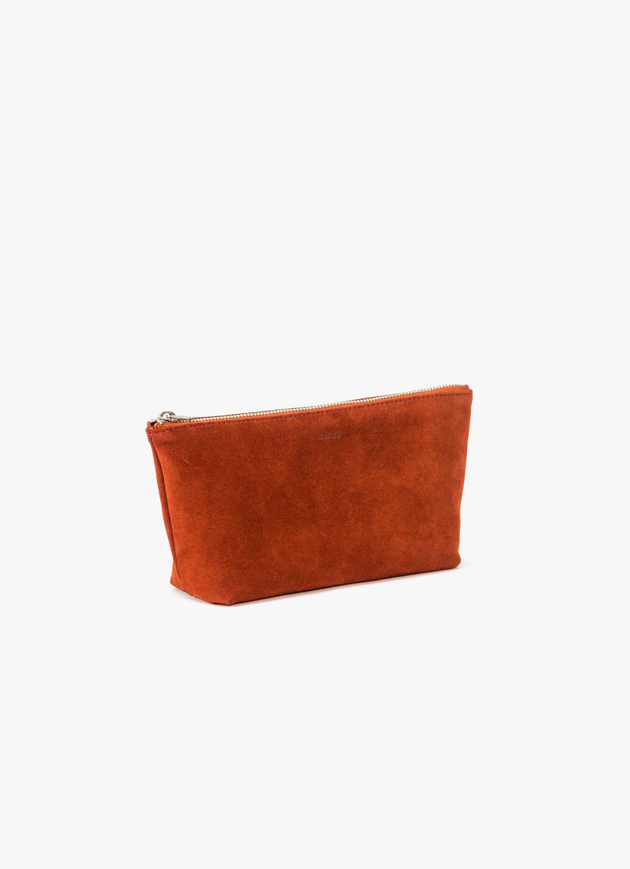Baggu Leather Pouch - Rust Suede - Small