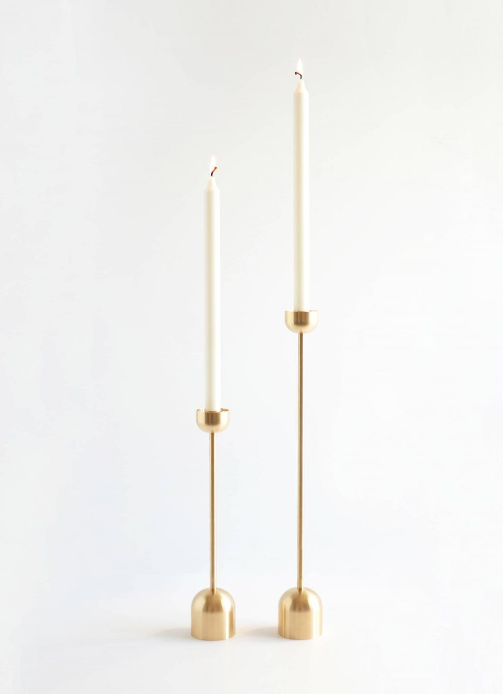 Fort Standard - Dome Spindle Candle Holder - Brass