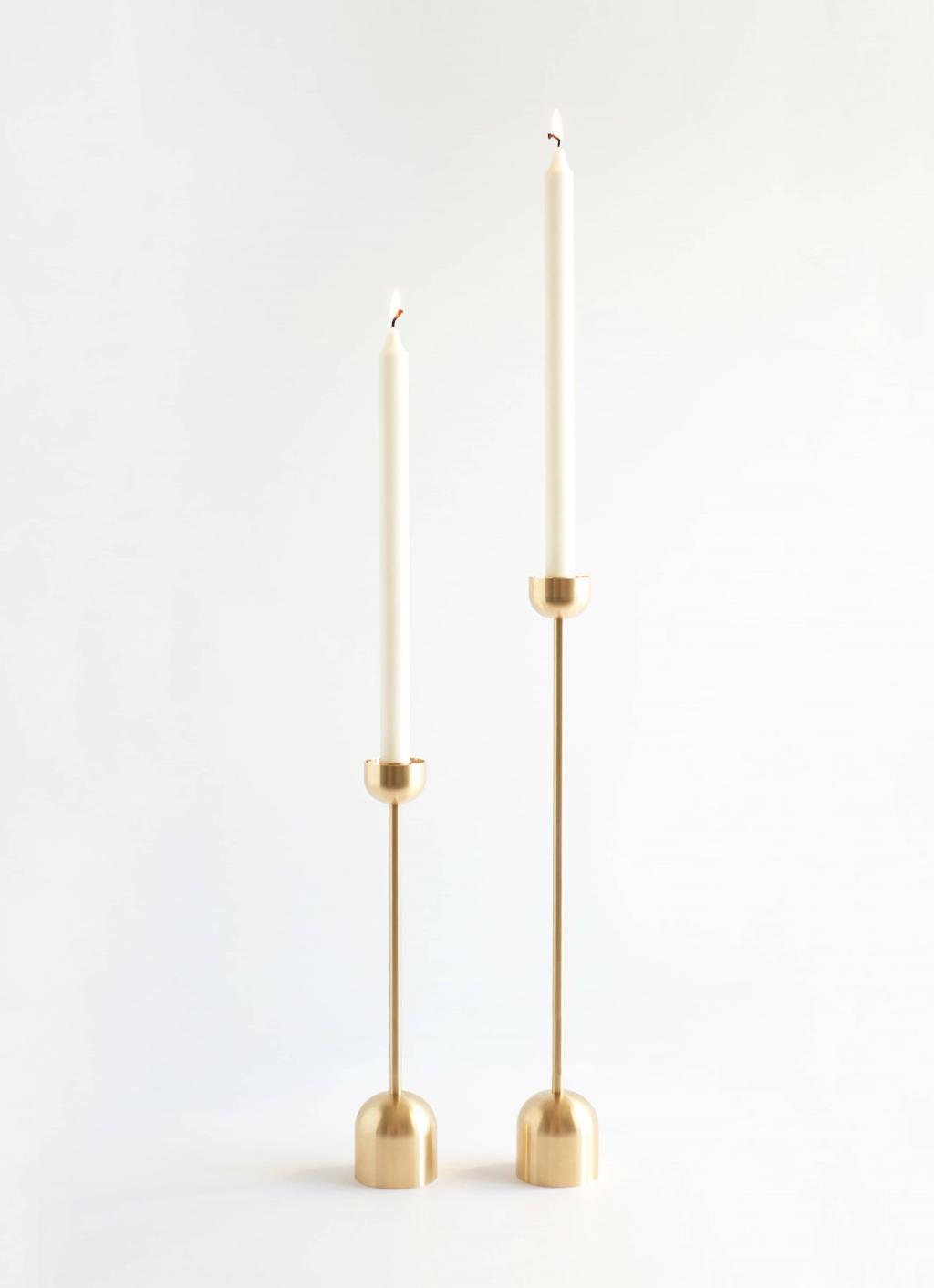 Fort Standard - Dome Spindle Candle Holder - Brass