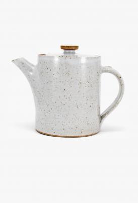 James and Tilla Waters - Thrown Stoneware - Teapot - White glaze