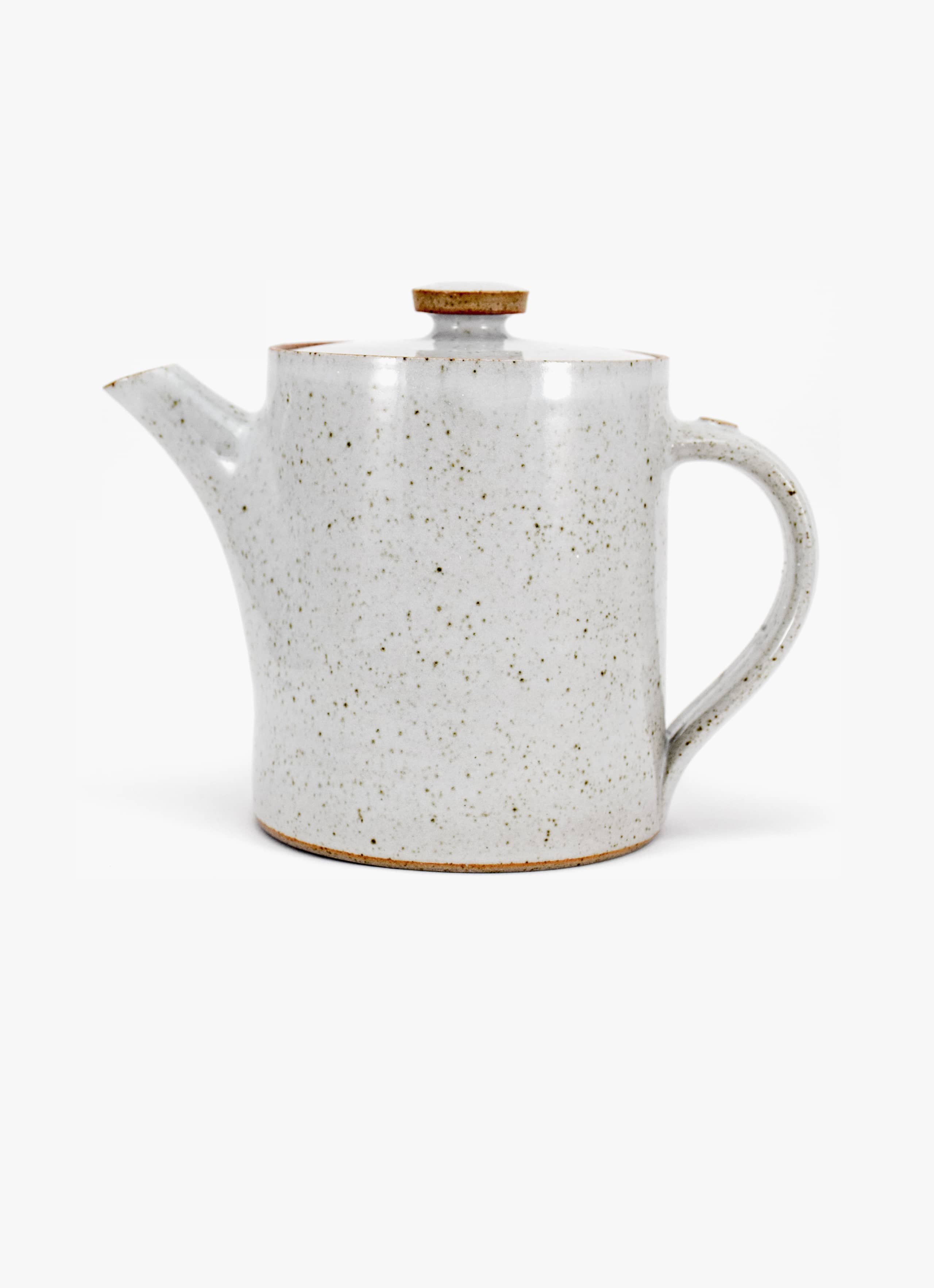 James and Tilla Waters - Thrown Stoneware - Teapot - White glaze