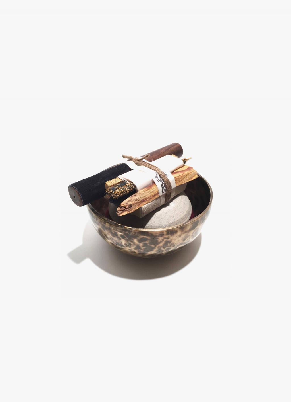 Incausa - Old fashioned Thadobati Bowl - Bath and Meditate Set