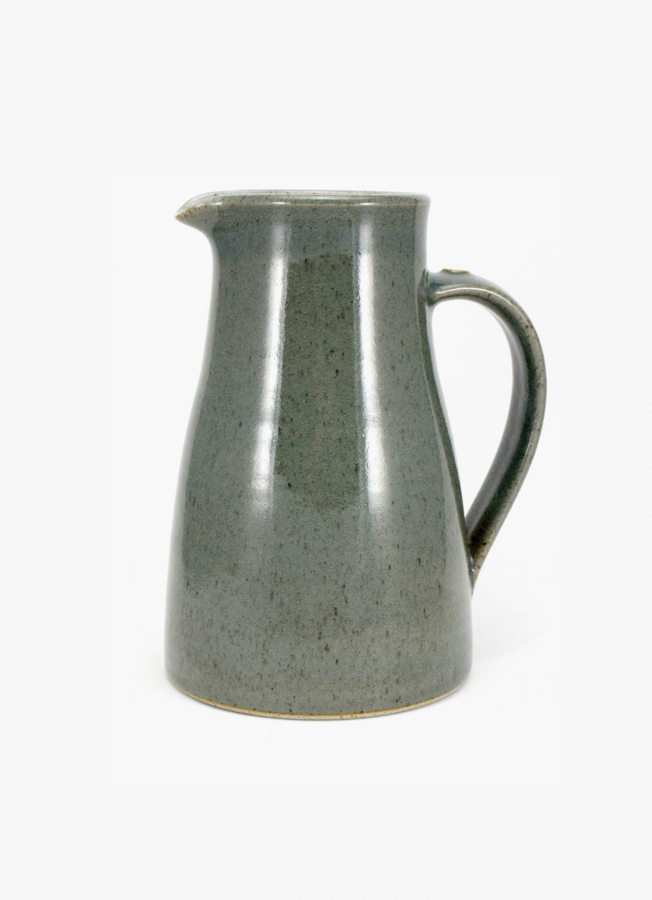 James and Tilla Waters - Thrown Stoneware - Large Jug - Green Celadon Glaze