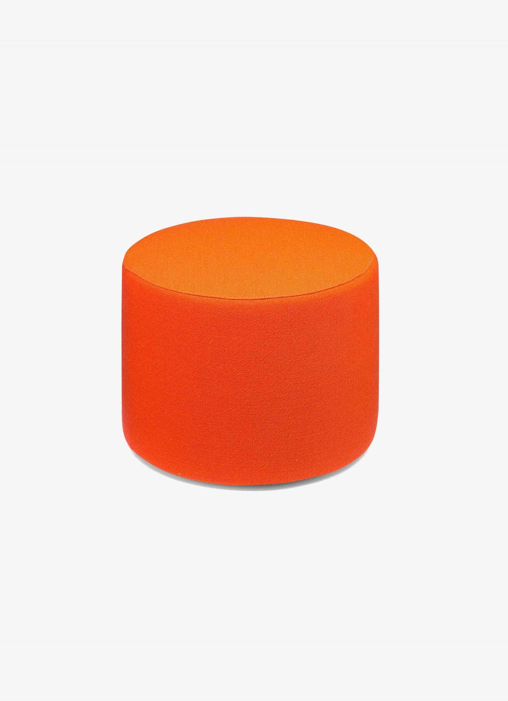 e15 - Pouf Kerman - round - Vidar Campari red