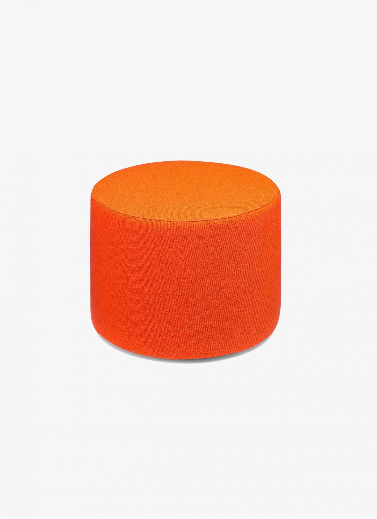 e15 - Pouf Kerman - round - Vidar Campari red