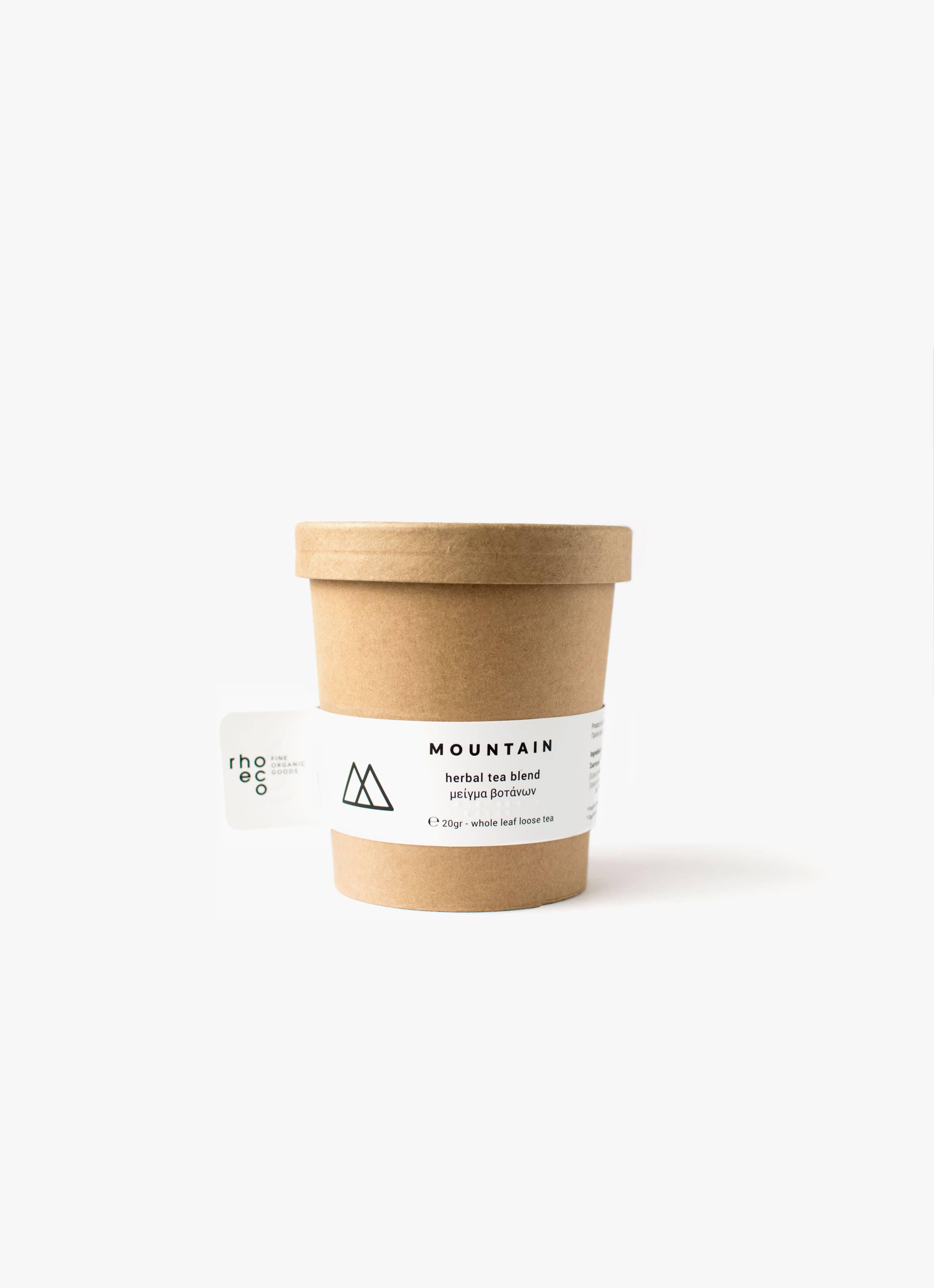 Rhoeco - Organic Tea - Drink it - Plant it - Mountain