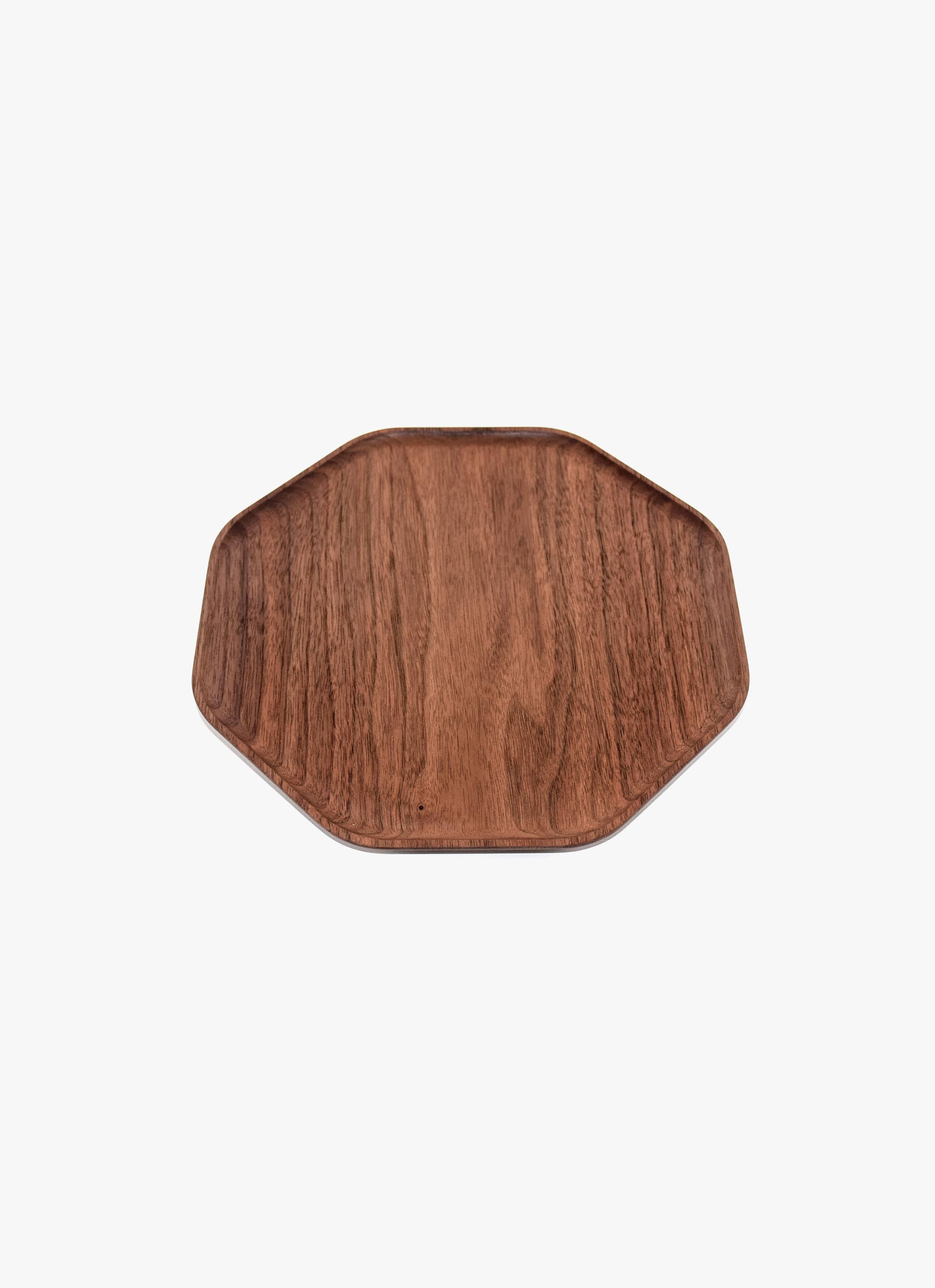 Asahikawa Woodworking - Oji Masanori - Kakudo Plate - Walnut - L