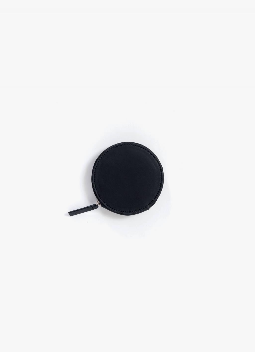 Baggu - Circle Wallet - Black - Leather