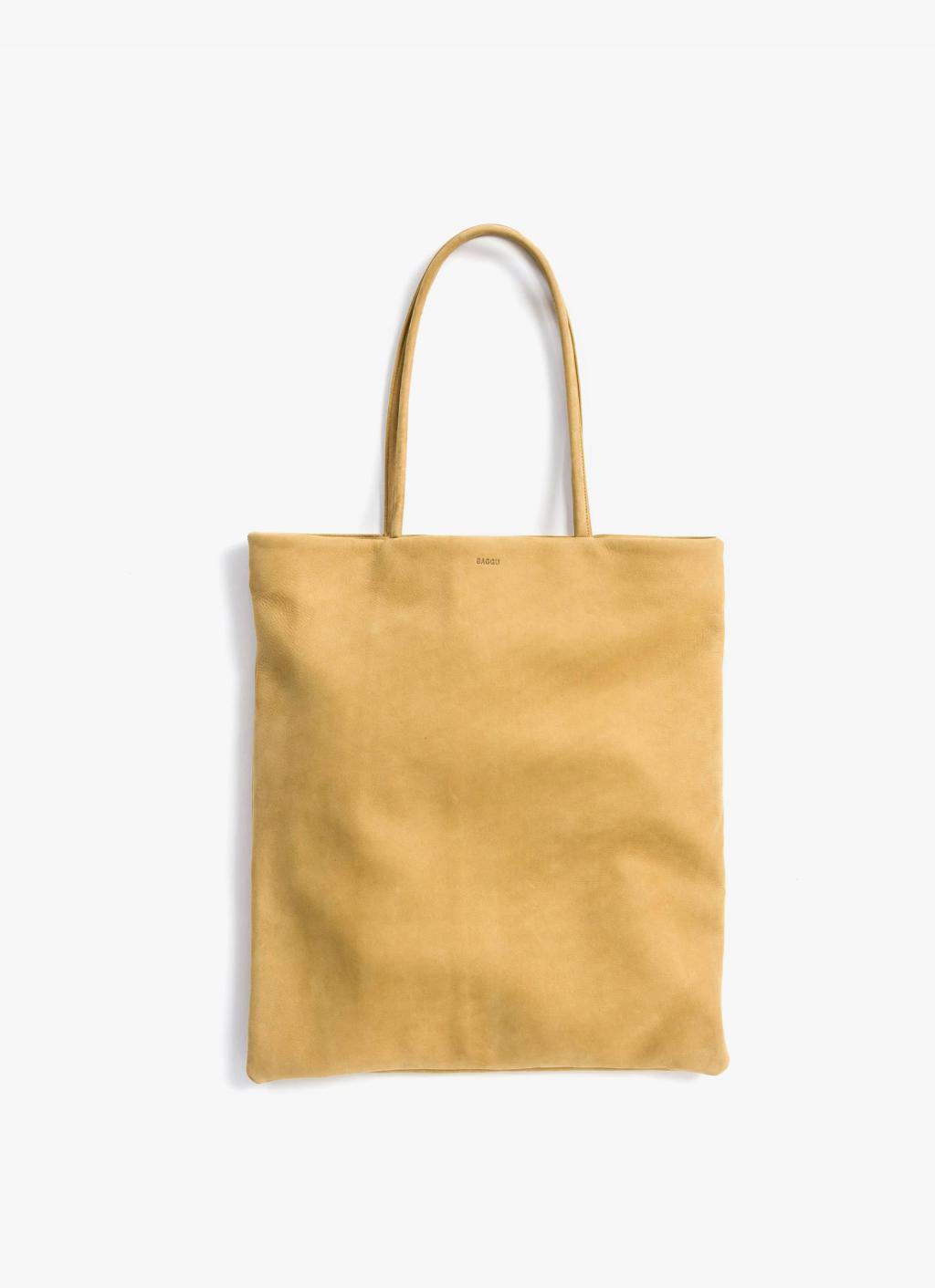 Baggu - Flat Tote - Honey - Nubuck Leather