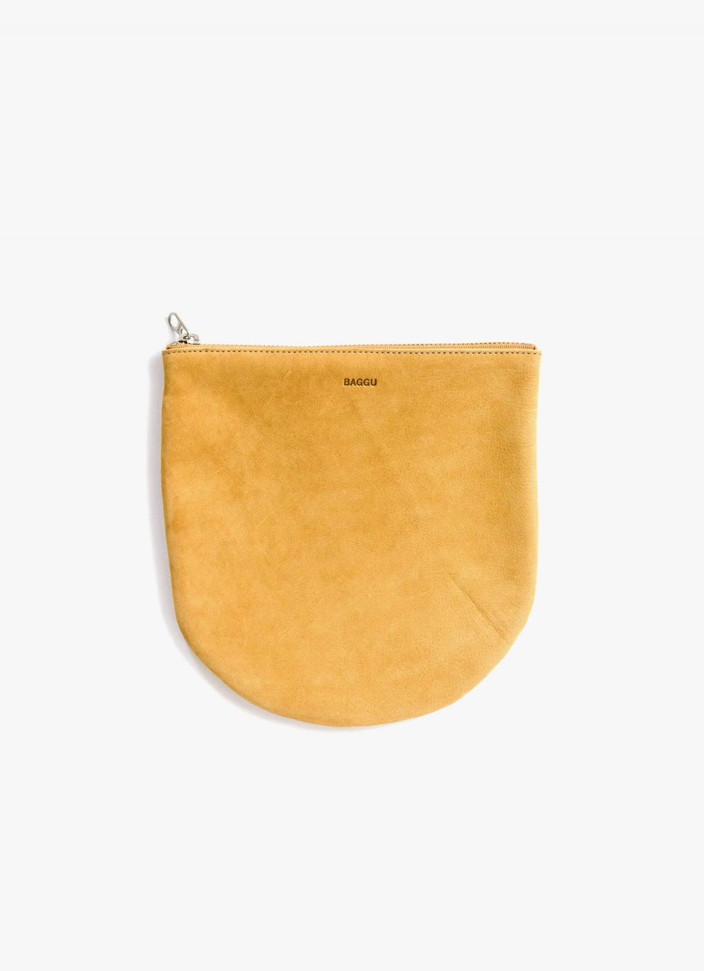 Baggu - Large U Pouch - Honey - Nubuck Leather