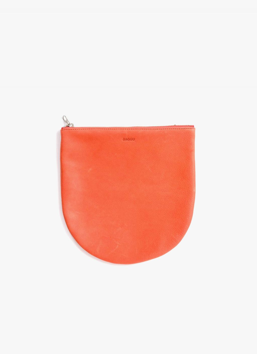 Baggu - Large U Pouch - Warm Red - Leather