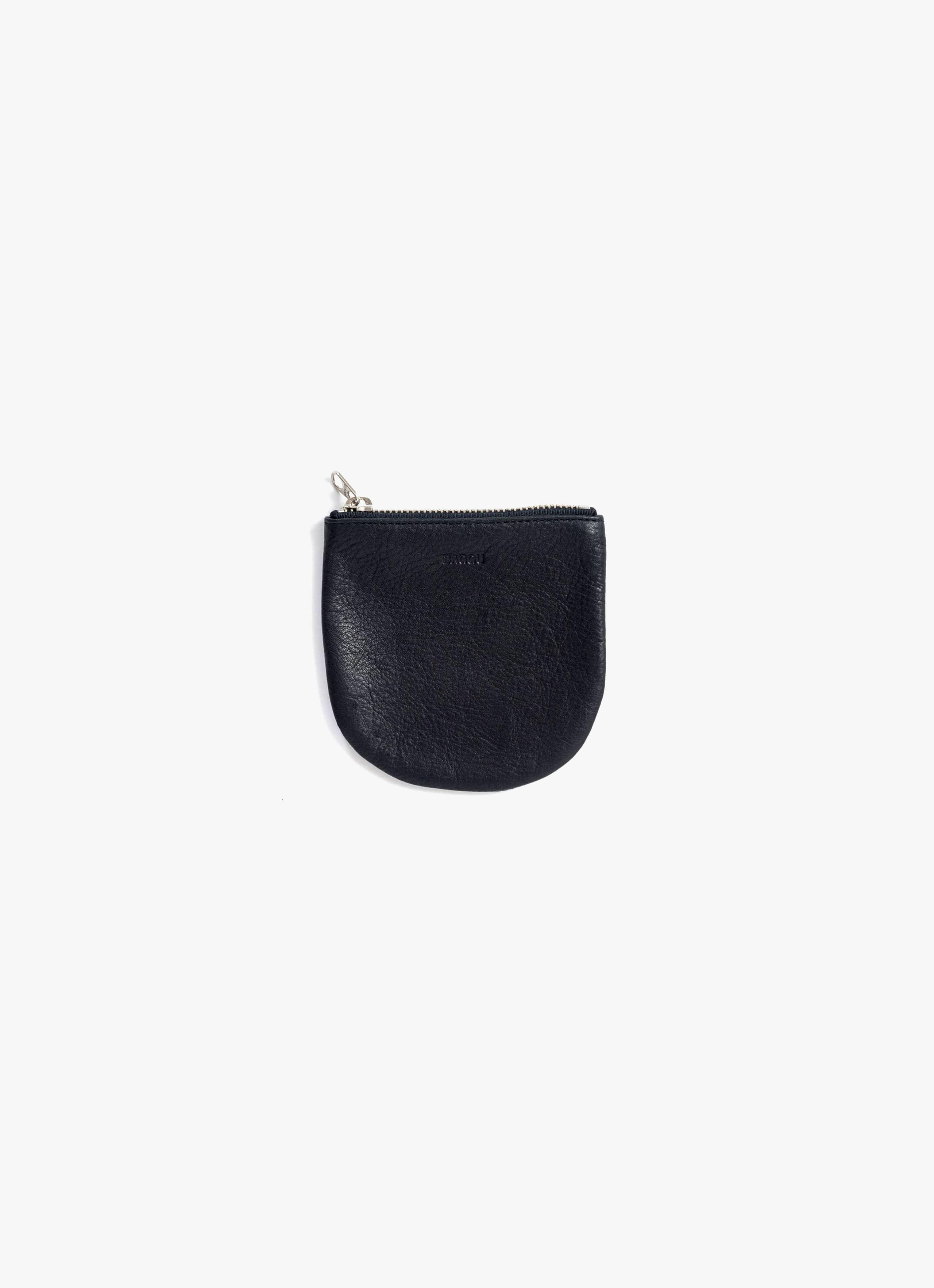 Baggu - Small U Pouch - Black - Leather