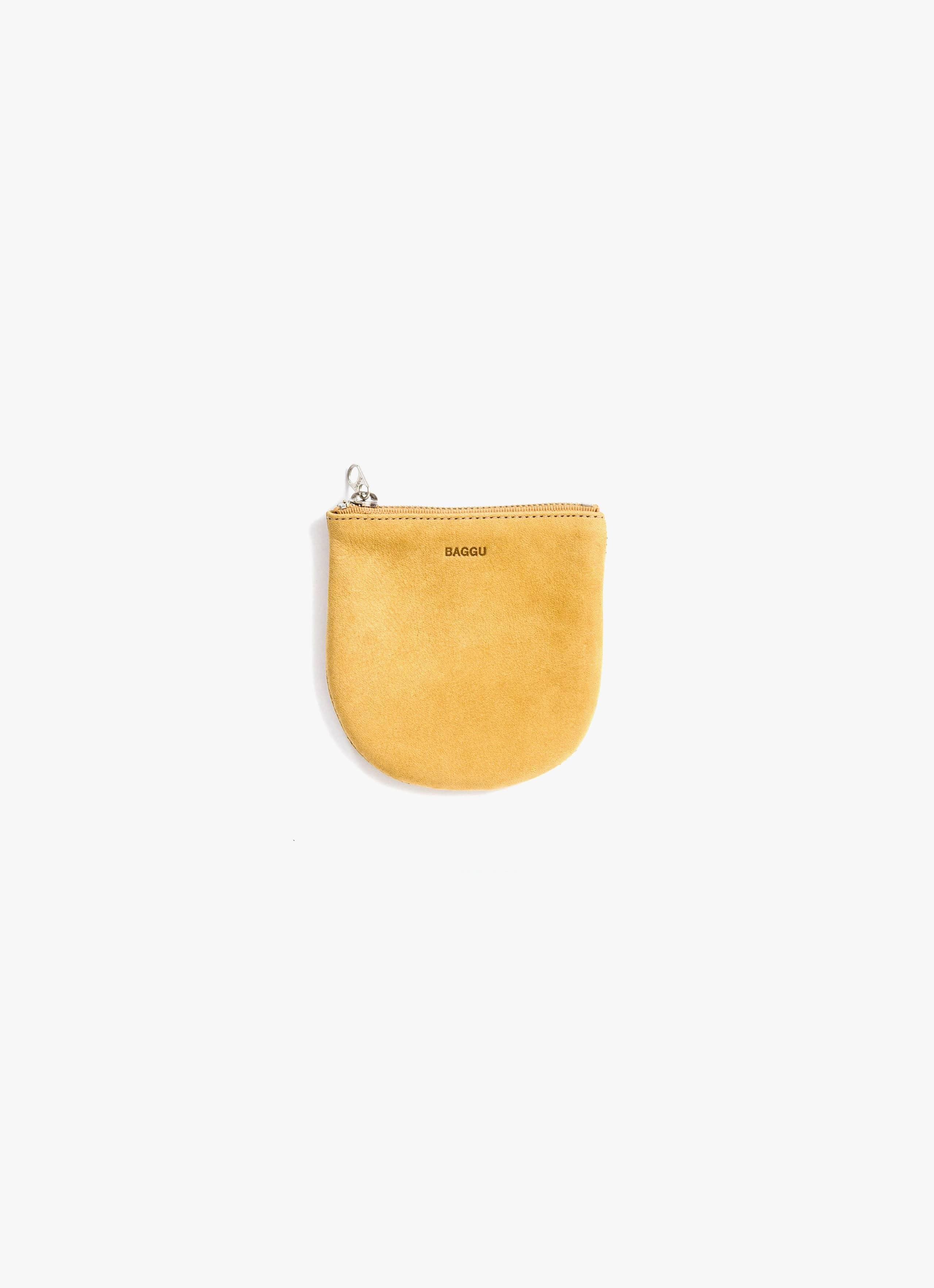 Baggu - Small U Pouch - Honey - Nubuck Leather