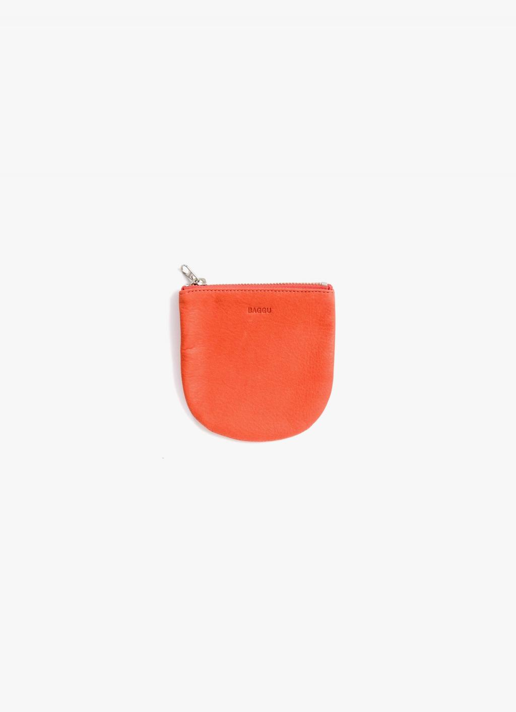 Baggu - Small U Pouch - Warm Red - Leather