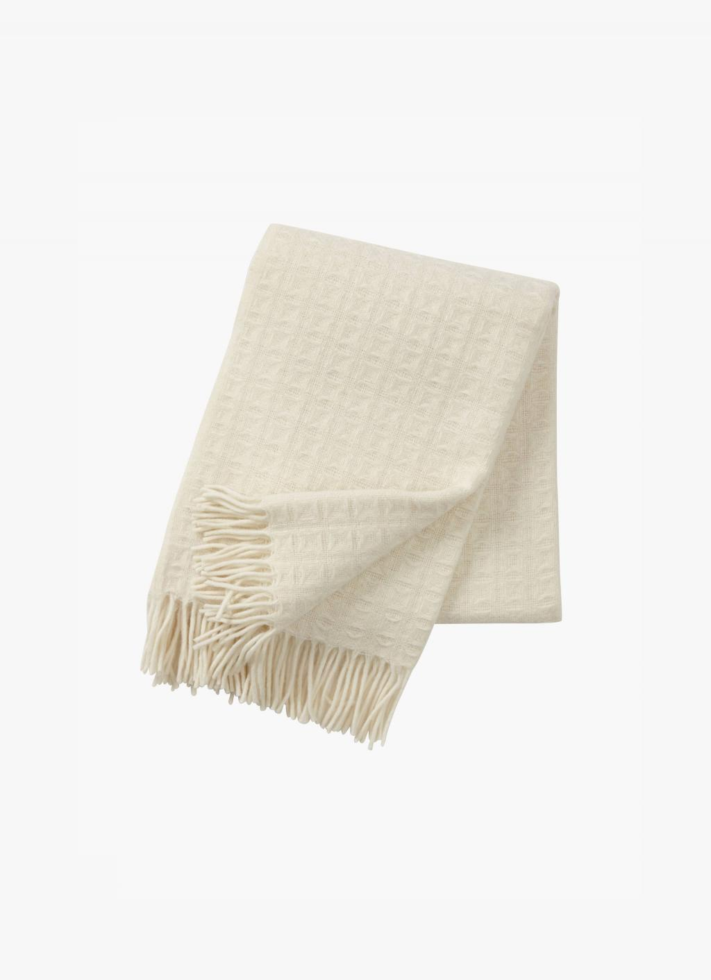 Klippan - Twist Wool Throw - natural white