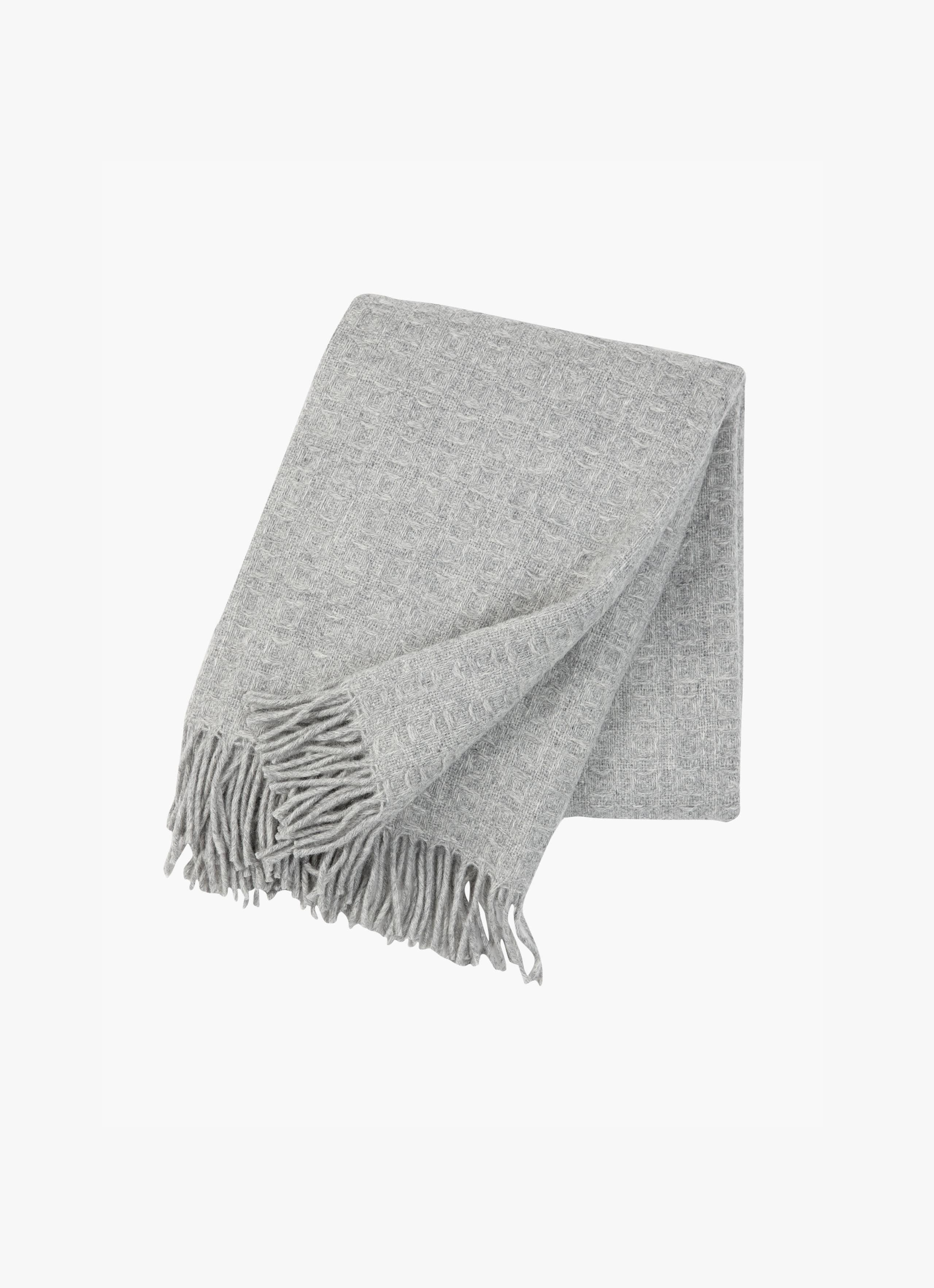 Klippan - Twist Wool Throw - light grey